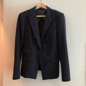 Express navy double-breasted blazer partly lined